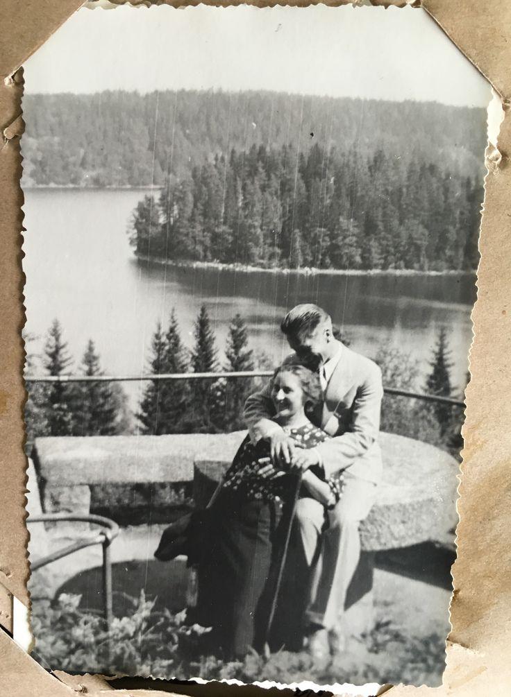 My grandma & grandpa at Aulanko view point  #Aulanko #Hämeenlinna