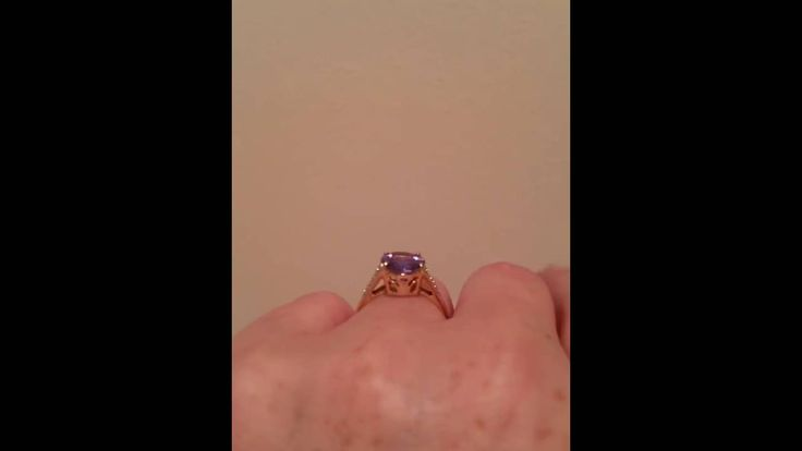 3.25ct Tanzanite and diamond ring for sale
