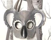 Koala Leather Mask, Child Size - Made to Order. $62.00, via Etsy.