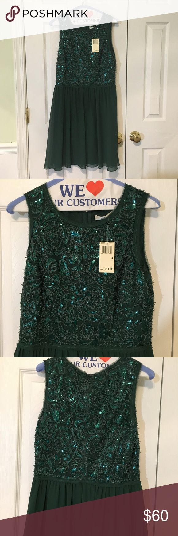 Green Sparkly dress NWT, brand Max Studio, marked as Lulu's for exposure - make offers Lulu's Dresses