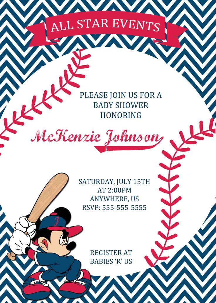 Best Baseball Themed Party Images On Pinterest Baseball - Baseball baby shower invitation templates