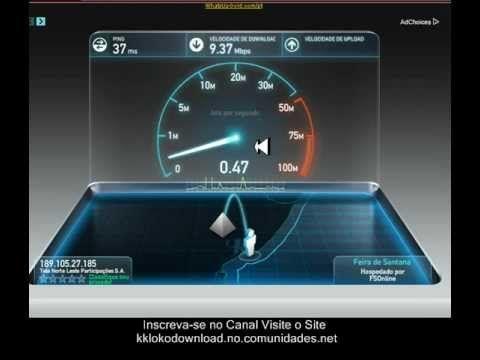 como medir a velocidade da sua internet