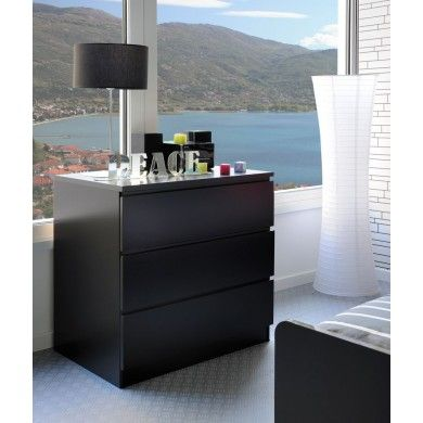 High Tek 8 Chest Of Drawers Is A Three Drawer Chest Of Drawers In Black.