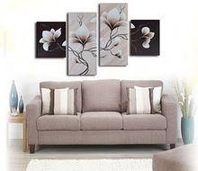 100% el yapımı promosyon çiçekler büyük tuval sanat ucuz peyzaj tuval üzerine yağlıboya ev dekorasyonu 4pcs/set(China (Mainland))