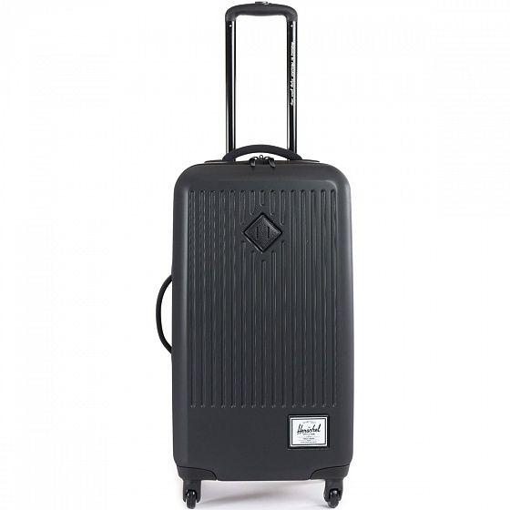 Прочный и вместительный чемодан Herschel Trade станет отличным компаньоном для дальних поездок. В него с легкостью поместиться необходимый гардероб, а благодаря внутренним сетчатым перегородкам Ваши вещи останутся в полном порядке. Колеса в 360-градусным поворотам и выдвижная ручка позволят катить чемодан в вертикальном положении, не нагружая рук.