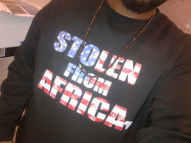 #Stolenfromafrica brought to America - Design