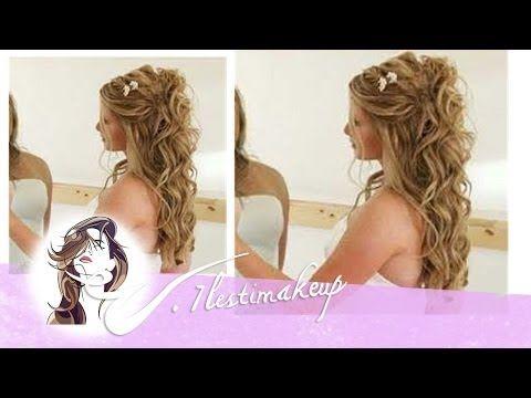 ▶ Semi-recogido con ondas para novia o invitadas-pedido Romina - YouTube