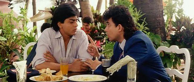 Shahrukh Khan and Deepak Tijori - Kabhi Haan Kabhi Naa (1993)