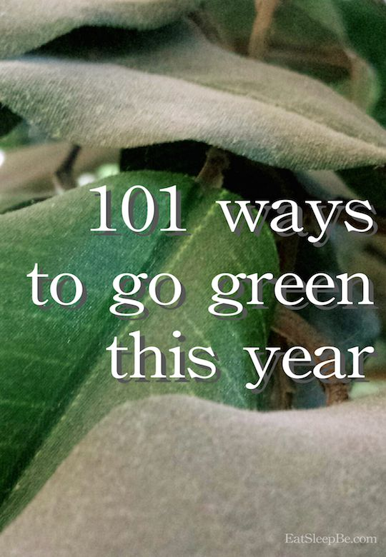 Live greener with these 101 ways to be more eco-friendly