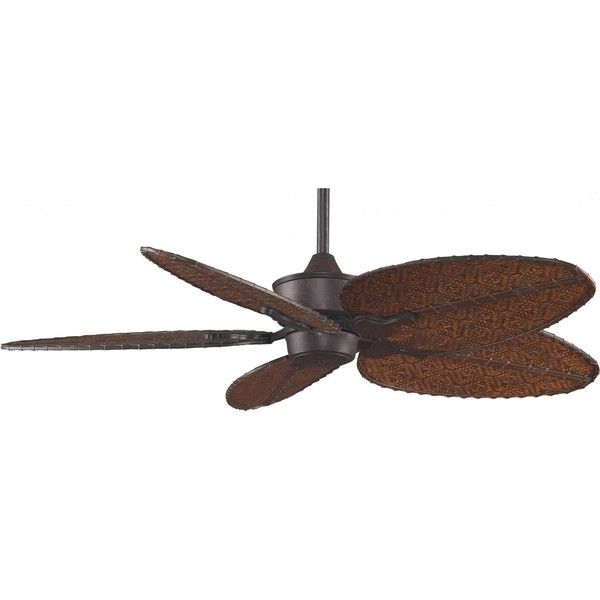 Fanimation Islander 52 Inch Outdoor Ceiling Fan - Rust ($505) ❤ liked on Polyvore featuring home, outdoors, outdoor decor, tropical patio decor, tropical outdoor ceiling fans, tropical ceiling fans and outside garden decor
