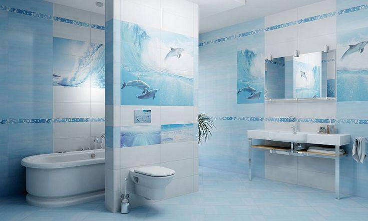 Marynistyczny styl łazienki