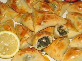 Middle Eastern Food: Spinach Pie Triangles Recipe - Recipe for Spinach Pie Triangles
