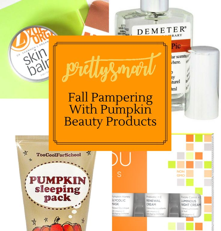 Fall Pampering with Pumpkin Beauty Products