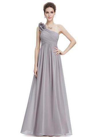 PIPPA Long Dress -  Silver Grey