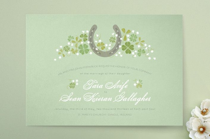 Lucky Horseshoe Wedding Invitations by 2birdstone at minted.com