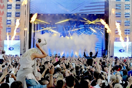 44.000 people at House Festival Summerburst, Stockholm, Sweden...
