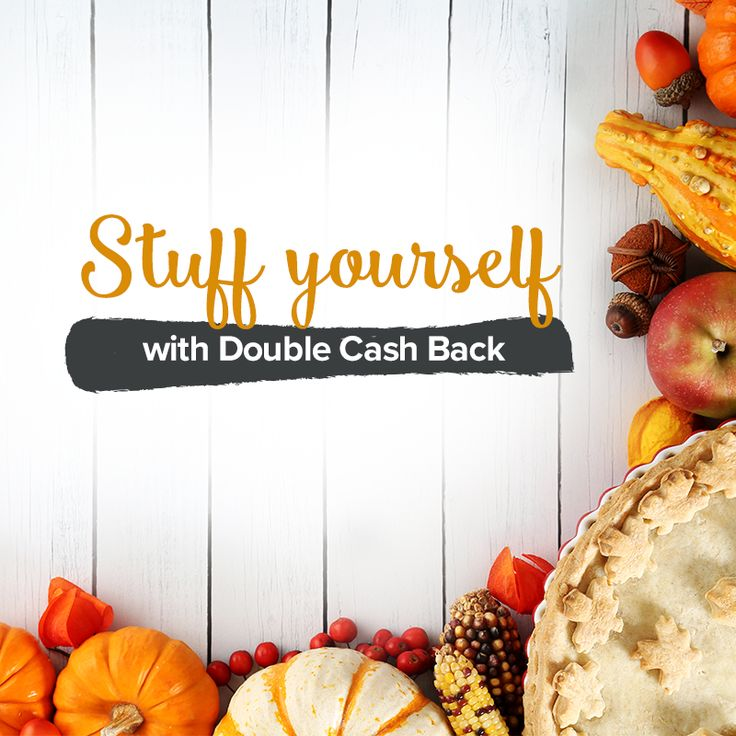 Happy Thanksgiving to our beautiful members! It's a time to gather with friends and family to give thanks for the many blessings that we all have in our lives. Amongst all the face-stuffing and food comas from your favourite Thanksgiving dishes, Ebates.ca is celebrating Double Cash Back all week long, along with coupons and promo codes from some of your favourite stores! Change up your wardrobe for the new season at your favourite stores with free shipping offers and fall clothing coupons