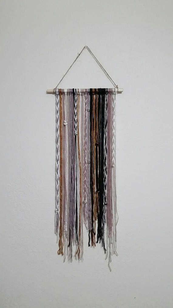 Bohemian Yarn Tapestry Yarn Wall Hanging Wall Decor Mauve | Decor ...
