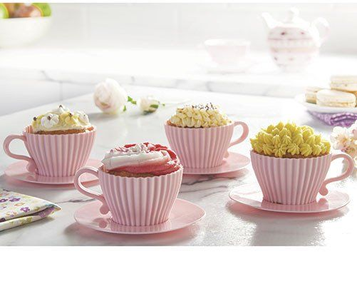 Teacup Cupcake Case Set