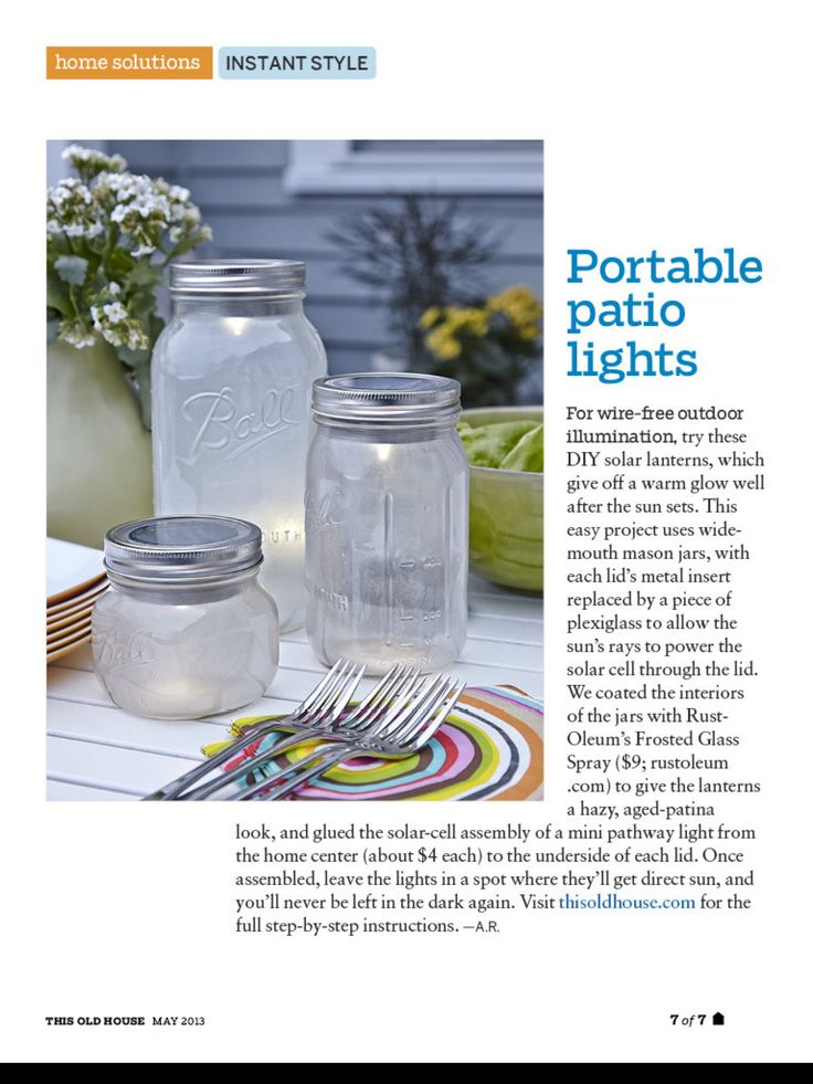 Diy tabletop mason jar lights nary a summer celebration is complete without a mason jar used one way or another set aside some of the vessels to light up
