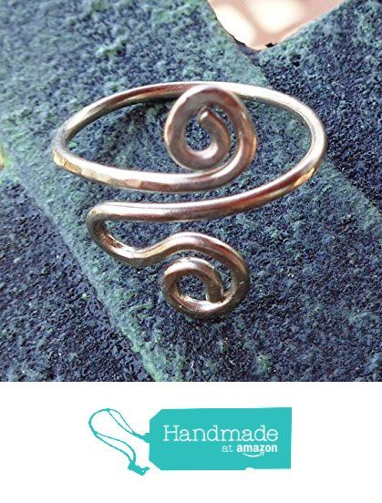 Toe-Midi-Knuckle Ring Spiral Adjustable Size https://www.amazon.com/dp/B0745YPSHY/ref=hnd_sw_r_pi_dp_1wgDzbV5FHD37 #handmadeatamazon