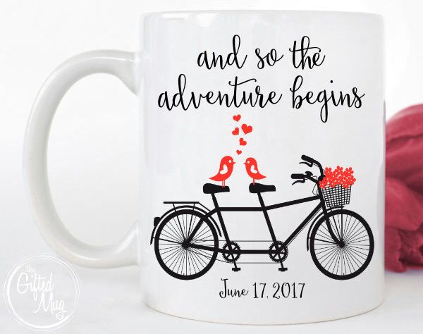 mug, Adventure Begins Mug, Custom Mug, Engagement Gift, Wedding Gift ...