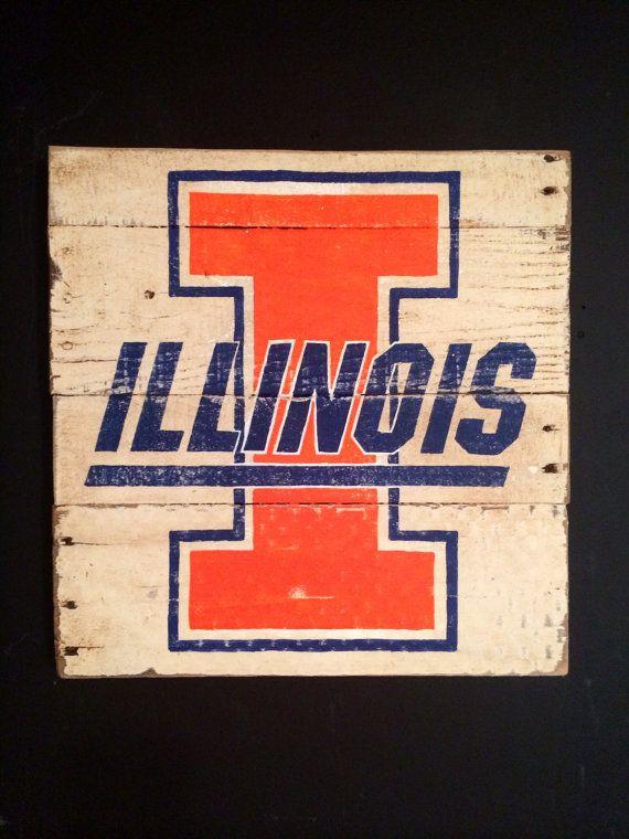 University of Illinois Fighting Illini Wall Hanging on Etsy, $40.00