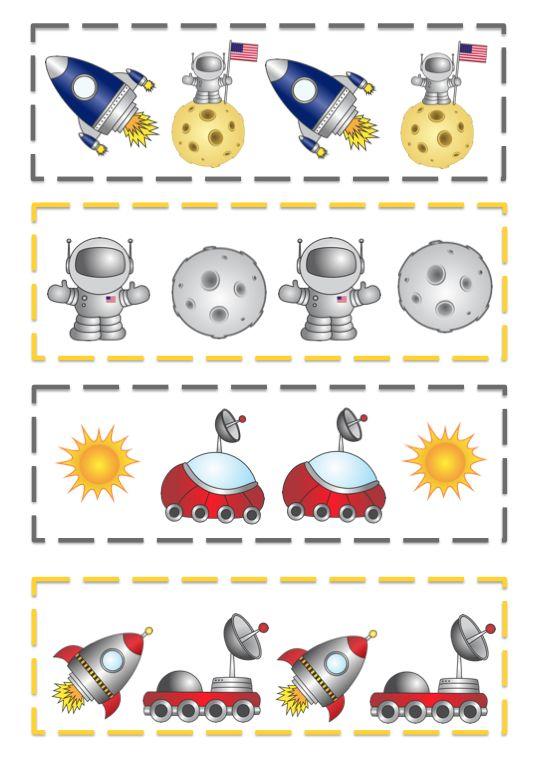 Preschool Printables: Rocket Pattern Cards