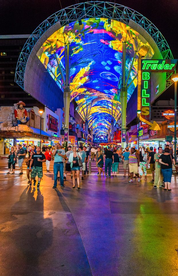 Fremont St. canopy of lights, a sight to see