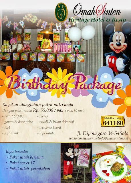 qinkqonk's Portfolio: Birthday Package