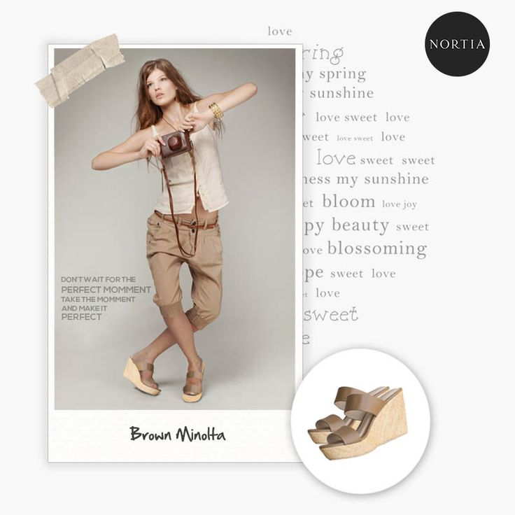 Capture your perfect moment with Minolta Brown! #woman #fashion #shoes #wedges #comfort #localbrandid #indonesia