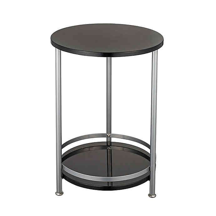 2 Tier Round Side Table In 2020 Side Table Round Side Table Table