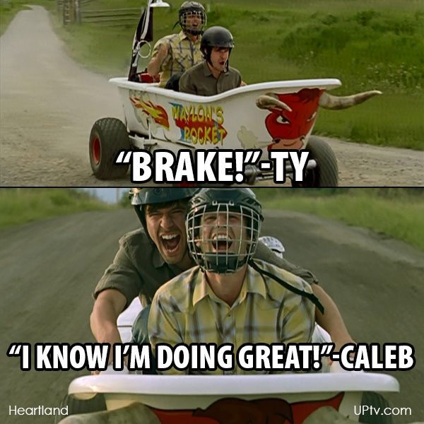 LOL! #Heartland -- Even better to find out this was ad-libbed by Graham & Kerry.