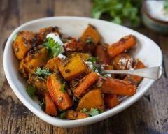 Poêlée de potimarron, carottes et lentilles