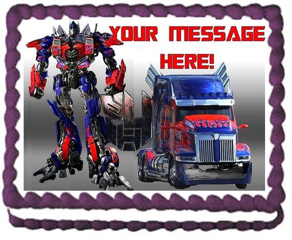 Transformers OPTIMUS PRIME Edible Cake Topper by PartyEdibles