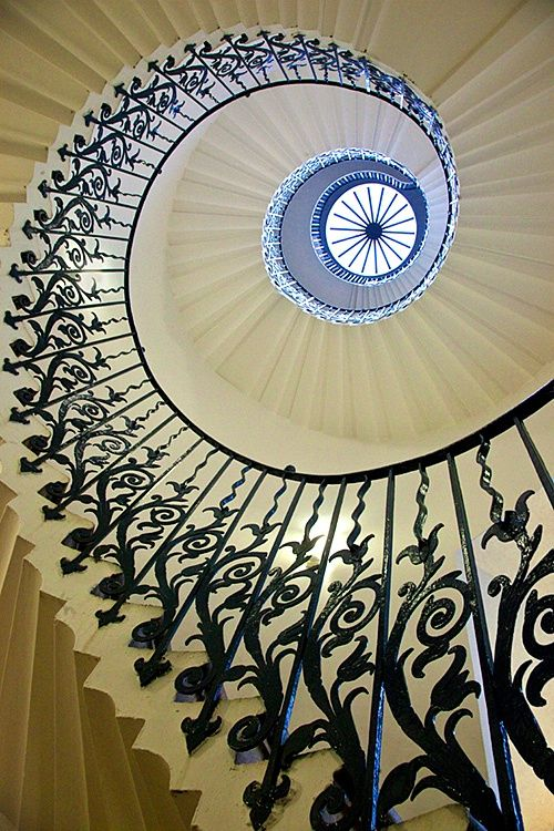 The Tulip Staircase in the Queen's House, Greenwich, England. I went to the Queens house in February 2014 & saw this beautiful staircase :-)