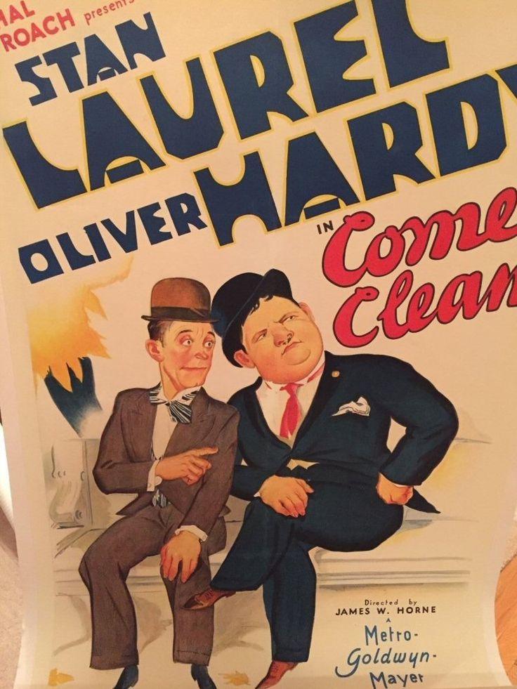 Stan Laurel & Oliver Hardy Hal Roach movie poster | Laurel ...