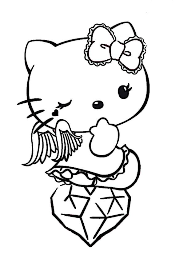 18 best Hello Kitty Ausmalbilder images on Pinterest | Free coloring ...