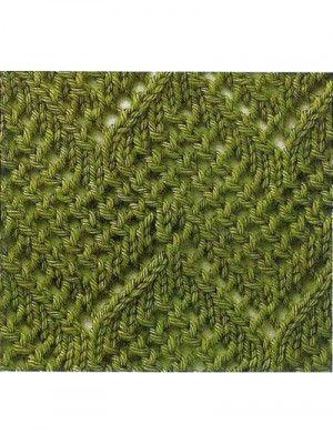 Ажурный узор, вязаный спицами — Шпуля - сайт о вязании