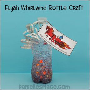 Elijah in a Whirlwind Bible Craft for Elijah Bible Lesson on daniellesplace.com