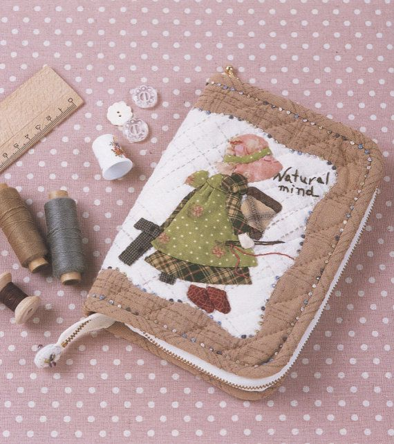 Sunbonnet Sue sewing kit case bag needle book by msirisook on Etsy,