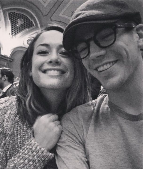 Grant Gustin and his girlfriend from his Instagram