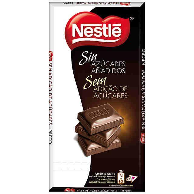 Chocolate negro Nestlé sin azúcares añadidos (Carrefour) - 5 onzas 2 p