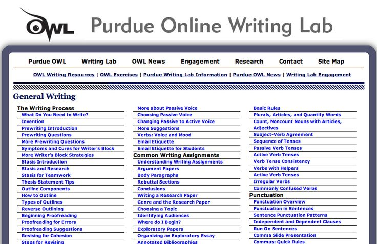 OWL Purdue Online MLA Writing Lab | Modern Languages Association | Pi ...