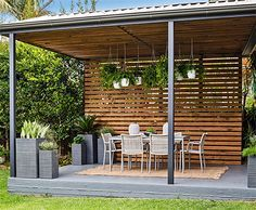 Home-Dzine - Turn a carport into a stylish patio - Whether you renovate an existing carport into a patio or decide to have a basic carport erected, the simple design of a carport allows you to set up an easy patio area in a small or large garden. And with a few design elements you can transform a carport into a comfortable and unique patio or entertainment area. - See more at: http://www.home-dzine.co.za/garden/garden-carport-patio.htm#sthash.uwGhhKts.dpuf