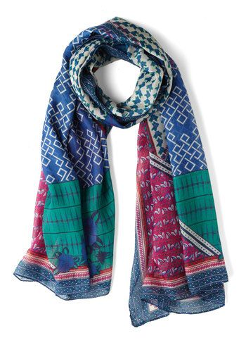 Hint of Mix-tery Scarf, #ModCloth