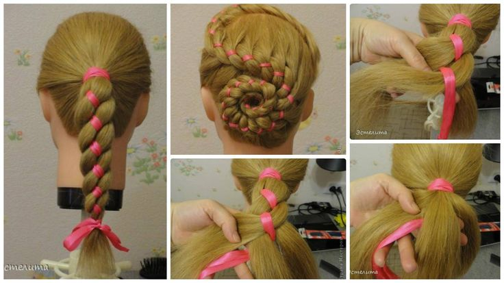 How to make  easy ribbon hairstyles