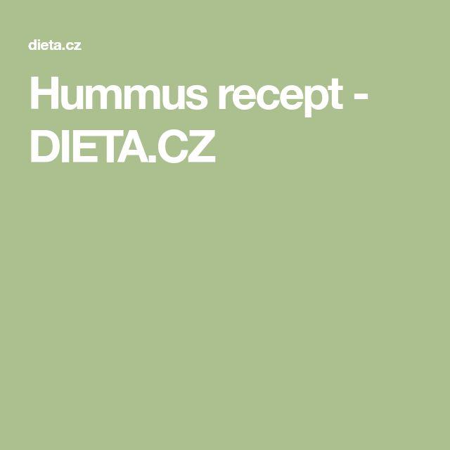 Hummus recept - DIETA.CZ