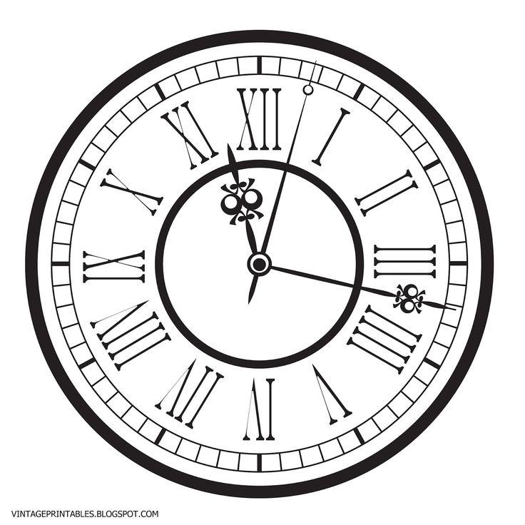 Free vintage clip art images: Old antique clock free clip art