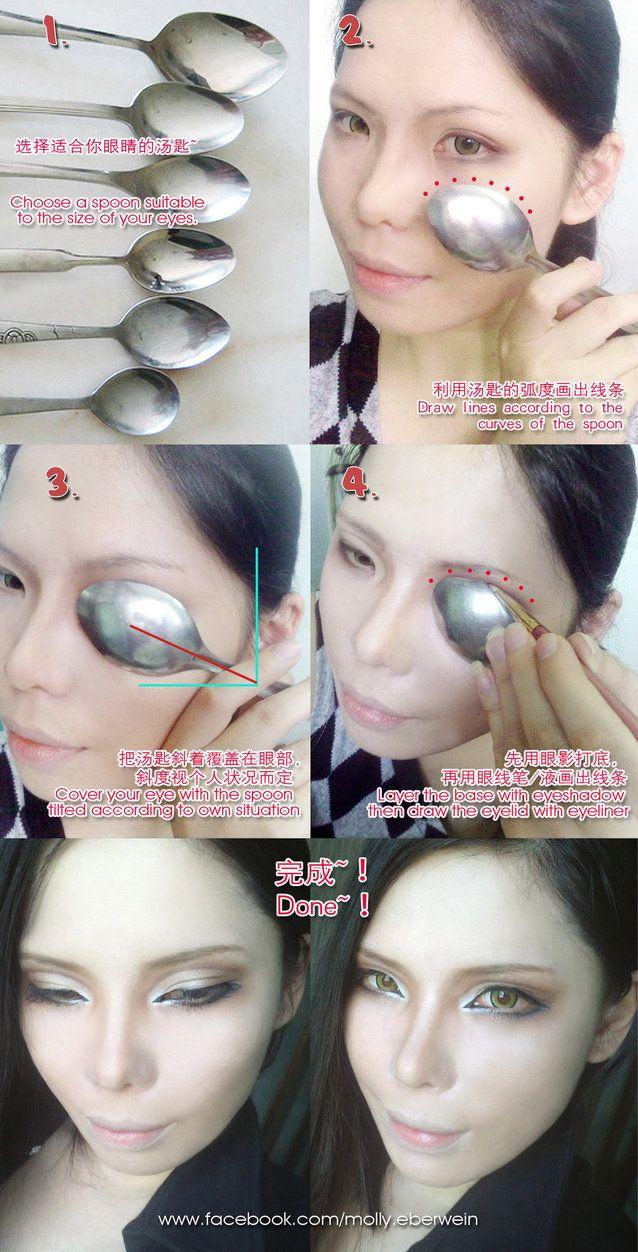 Cosplay Eyes Makeup / Fake double eyelid tutorial by mollyeberwein